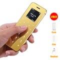 Ulcool V36 Ультратонкий кредитная карта мобильного телефона металлический корпус bluetooth 2.0 dialer анти-потерянный FM mp3 две sim-карты мини мобильный телефон P052