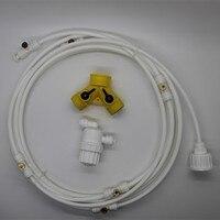 E205 Hose 6m 6pcs Brass Nozzle Mist Cooling System