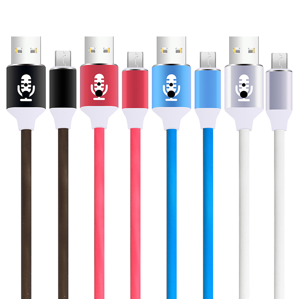 Type C Cable Volume Control LED Light Flash Cable 2A USB Cable For Samsung S5 S6 S7 J5 J7 Xiaomi Redmi Note 5 Charging Wire in Mobile Phone Cables from Cellphones Telecommunications