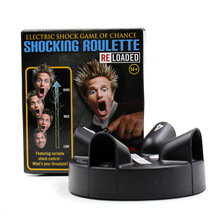 Shocking Roulette Electric Shock Game of Chance Lucky Finger Electric Shock Device Creatived Handheld Game Player O25