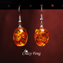 Crazy Feng Jewelry Free Shipping Women Vintage Retro siliver Plated Colorful Stone African Drop Earrings valentine's Day Gift