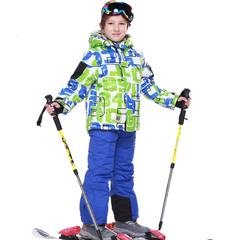 Warm Winter Children Ski Suit Set Waterproof Windproof Girls Boys Snowboard Skiing jacket coat +ski pants Sport Winter Suit цены онлайн