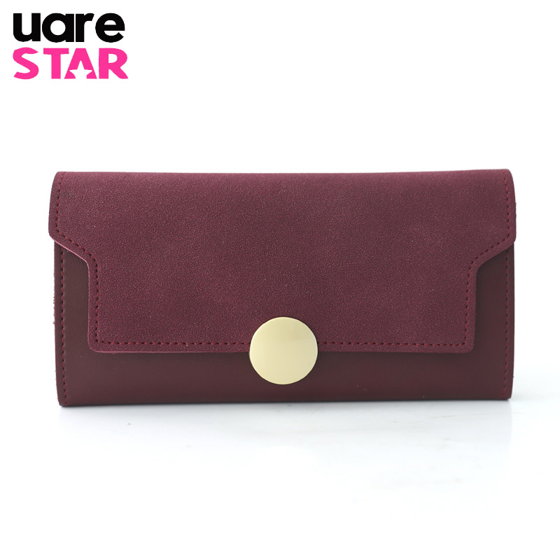 Women's Purse and Wallets PU Leather Long Girl's Wallet With Cell Phone Pocket Brand Design Lady Purse with Card Holder panelled wallets cell phone pocket purse 2018 handmade natural leather vintage long style women s wallet