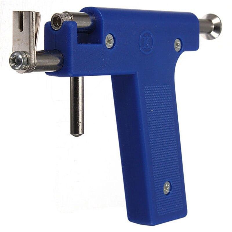 Blau Pro Stahl Ohr Nase Nabel Piercing Gun Tool Kit 98 stücke Instrument Studs Set Schmuck Werkzeuge