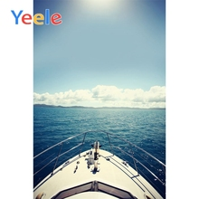 Yeele Sea View Ship Deck Wedding Portrait Photography Backdrops OCEAN WHITE CLOUD Photographic Backgrounds For Photo Studio
