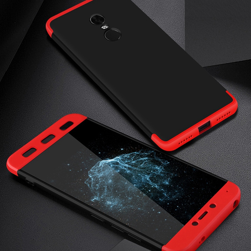 For Xiaomi Redmi 4X Cases ,Luxury 3 in 1 360 protection Cover For Xiaomi 5 5s 6 Max2 Note 4 4X Case Mobile Phone Accessories