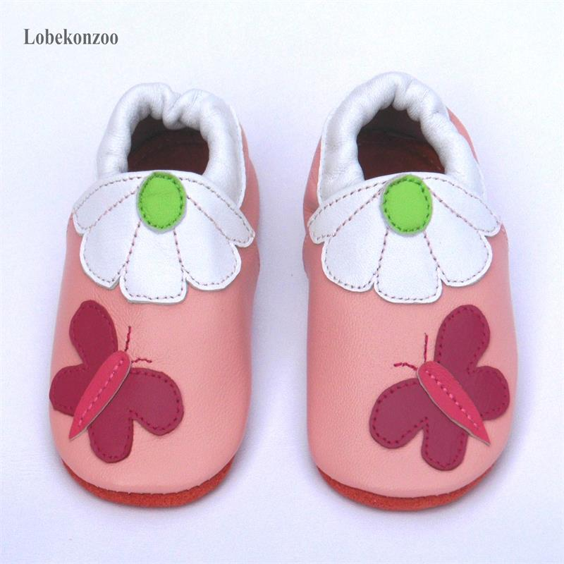 Image 4 - Lobekonzoo  hot sell baby girl shoes  Guaranteed 100% soft soled Genuine Leather baby First walkers   infant shoes Free shippingFirst Walkers   -