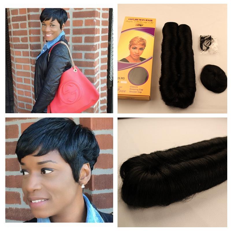 Pleasant Aliexpress Com Buy Hot 27 Pieces Short Hair Weave Wholesale Hair Hairstyles For Women Draintrainus