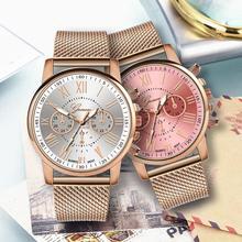 Luksusowy zegarek kwarcowy dla kobiet kobiet mężczyzn miłośników para mujer zegarek Milanese tarcza ze stali nierdzewnej zespół 2019 New Arrival tanie tanio QUARTZ Klamra Stop Nie wodoodporne Moda casual 40mm STAINLESS STEEL 23cm Szkło ROUND Brak Luxury Quartz Lovers Wristwatch Watches
