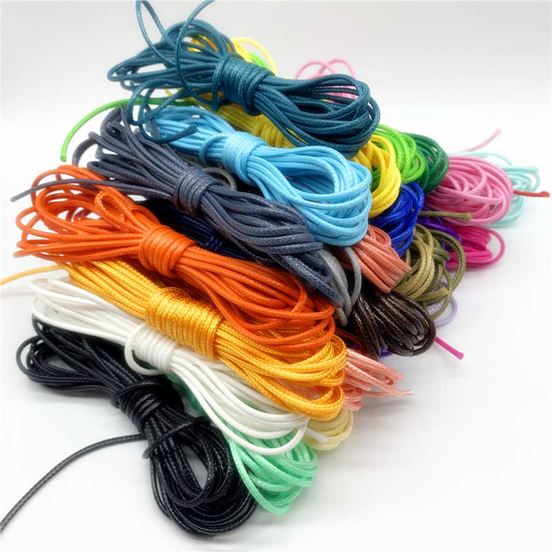 5yards 2mm Colorful Waxed Cotton Cord Waxed Thread Cord String Strap Necklace Rope For Jewelry Making For Shamballa Bracelet