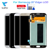 Super AMOLED LCDs For Samsung Galaxy S7 edge LCD WITH FRAME G935 G935F LCD Display Screen Digitizer Assembly Replacement