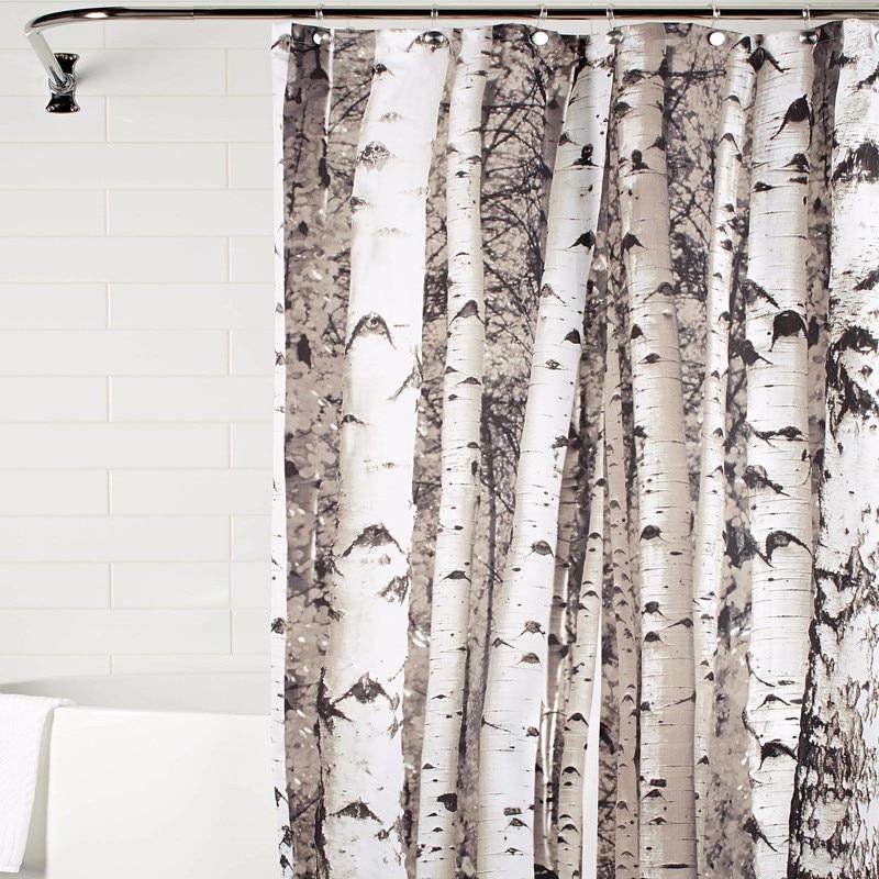 2017 Trunk Waterproof Polyester Shower CurtainS Fabric Bath Curtains Cortinas Para Banheiro Hot Sale