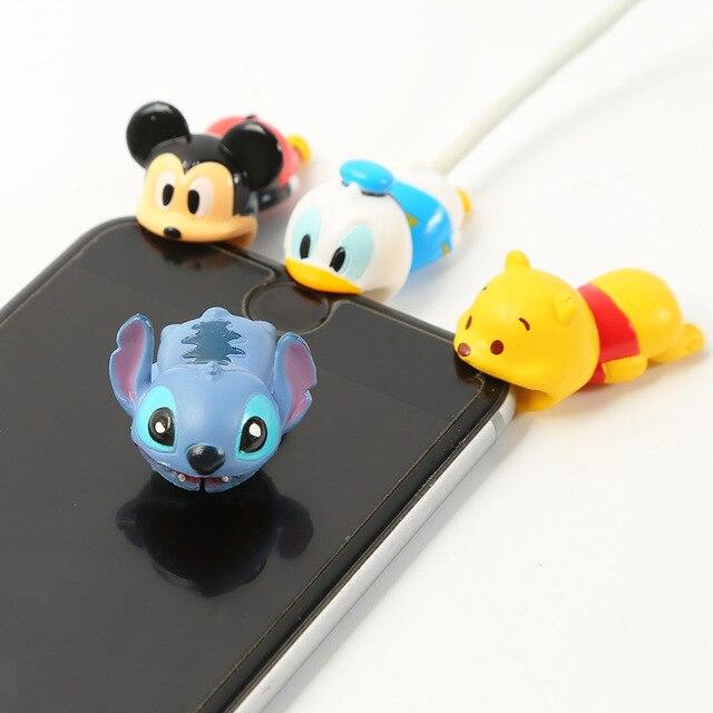 הכי חדש כבל אבזר כבל בעלי החיים עקיצות קריקטורה USB כבל כבל מגן עבור iphone 8 7 6 USB כבל הגנת שרוול להגן על