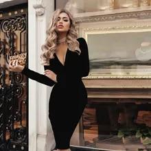 b99f2f3bf8005 Buy black bodycon dress and get free shipping on AliExpress.com