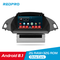 Octa Core Android 8.1 Car DVD Player Multimedia for Europe Ford Kuga C Max 2013+ Auto Radio 2 Din FM GPS Navigation Video Stereo