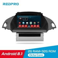 Octa Core Android 8.1 Car DVD Player Multimedia para A Europa Kuga Ford C Max 2013 + Auto Rádio 2 din Navegação GPS FM Estéreo Vídeo