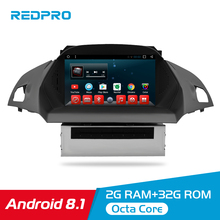 Octa Çekirdek Android 8.1 Araba DVD OYNATICI Multimedya Avrupa Ford Kuga C Max 2013 + otomobil radyosu 2 Din FM GPS Navigasyon Video Stereo