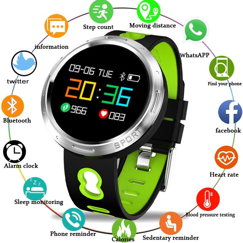 2018 Montre Intelligente Ip67 étanche Activité Fitness Tracker Fréquence Cardiaque Moniteur De Pression Artérielle Sport Hommes Femmes Smartwatch + Boîte
