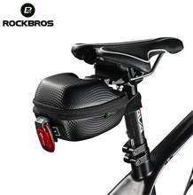 Rockbros MTB Seatpost Bag Waterproof Saddle Bag Road Tube Seatpost Bag Cycling Cycle Portable Saddle Bag Case ring detail saddle bag
