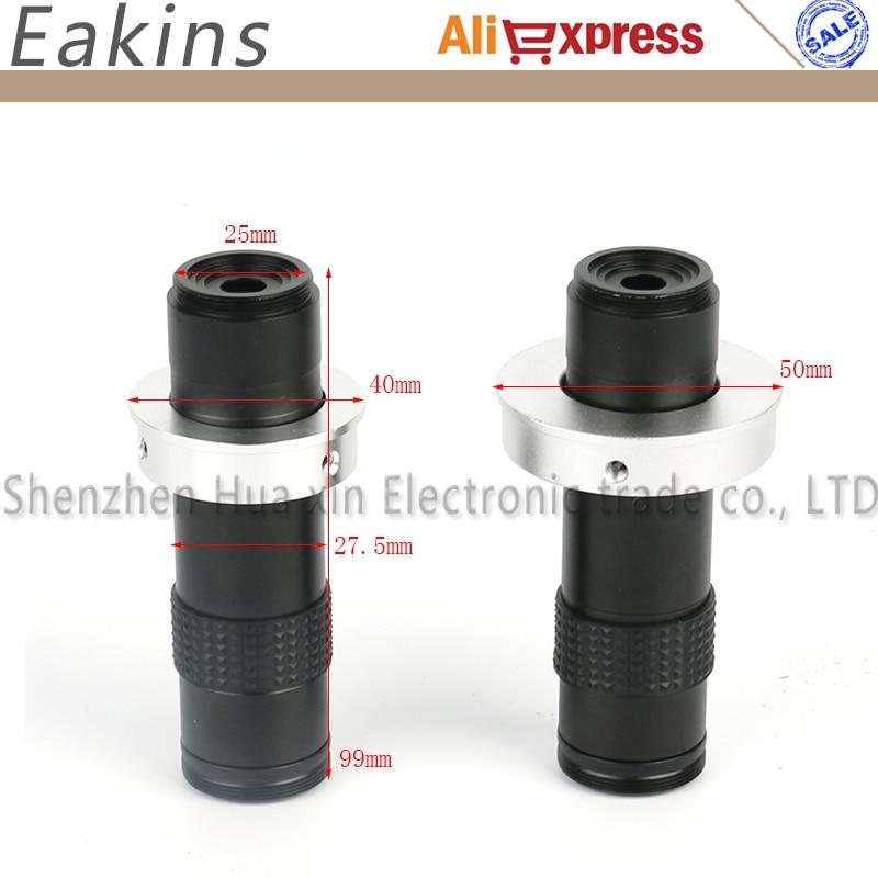 Industrielle Microscope 55 MM-700 MM Haute Coverag Distance C-monture 1X-120X15: 1 Pour CCD CMOS L'industrie Vidéo Microscope Caméra