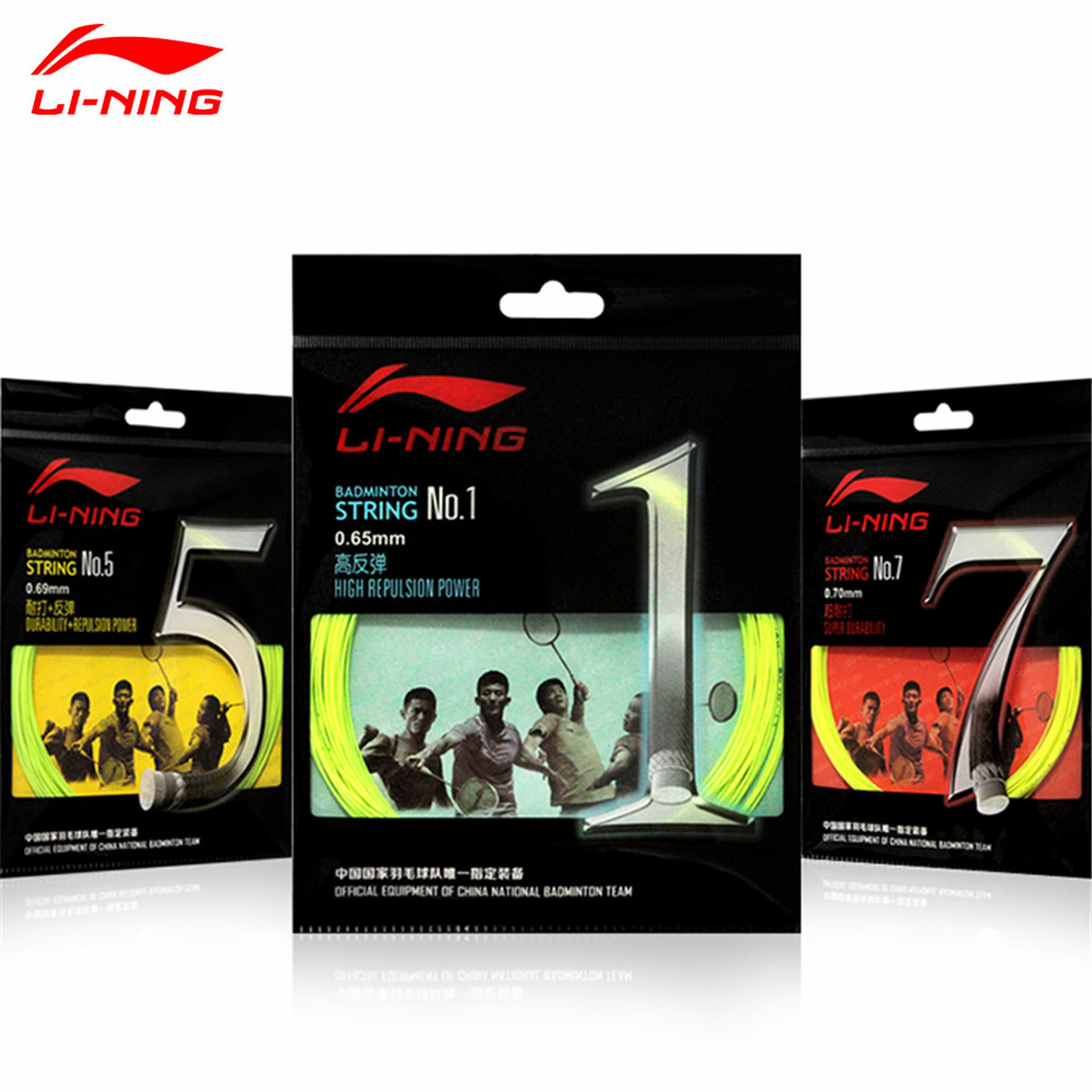 5pcs/lot Lining Professional Badminton String of China National Team NO.1/5/7 Durable Repulsion Power Line Li-ning Net L272-5OLA