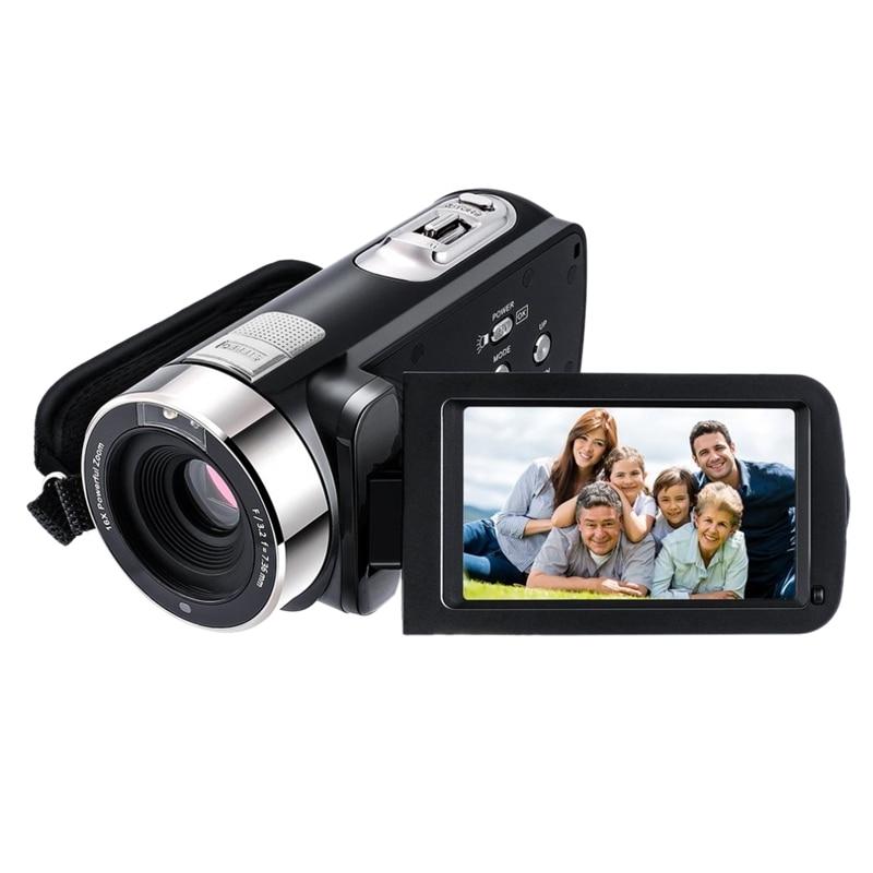 Tüketici Elektroniği'ten Kompakt - P&S Kameralar'de 5.0M Hd Cmos sensörü 3.0 inç Tft flaş dijital kamera 24.0 Mp Fhd Lcd rotasyon ekran dijital kamera ile 16X dijital zoom (ab