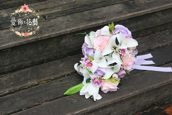 bouquet de mariee blanc rose 4
