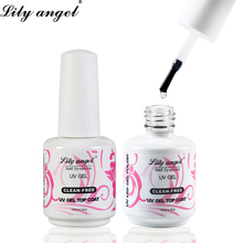 Lily angel High Quality 15ml Soak Off UV Gel Top Coat Non Cleansing Base Magnet Effect Primer Nail Polish
