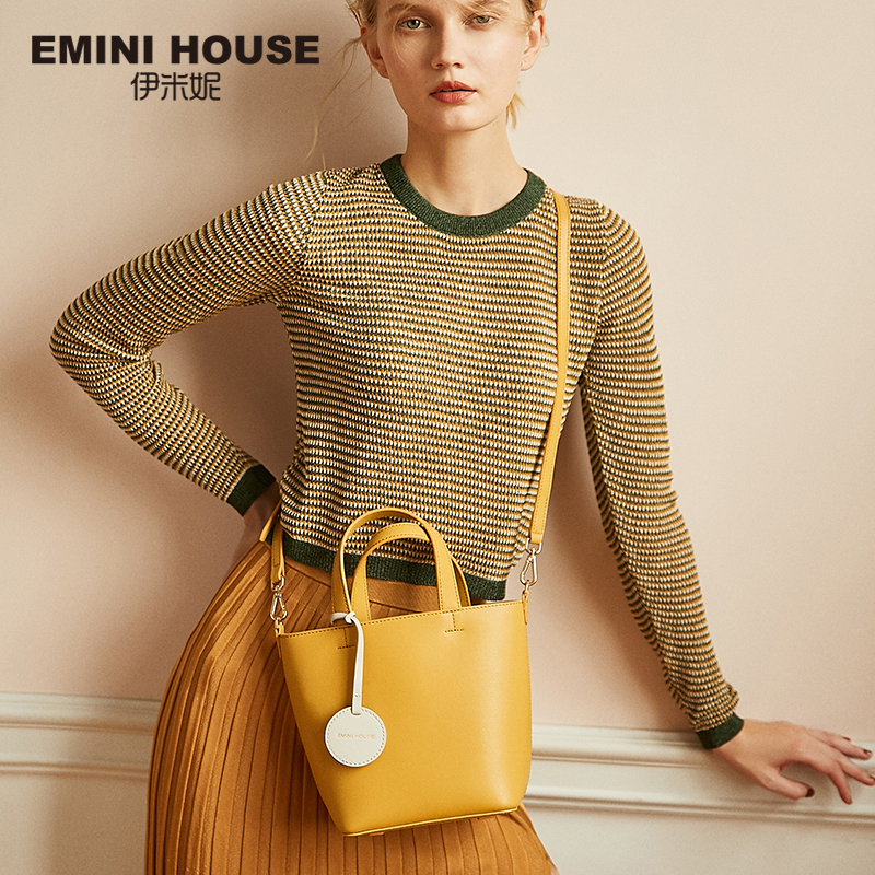 EMINI HOUSE Mini Tote Bag Luxury Handbags Women Bags Designer Crossbody Bags For Women Split Leather