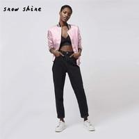 Snowsong #5003 Mode Femmes Veste Classique Zip Rose Veste Manteau Occasionnel livraison gratuite
