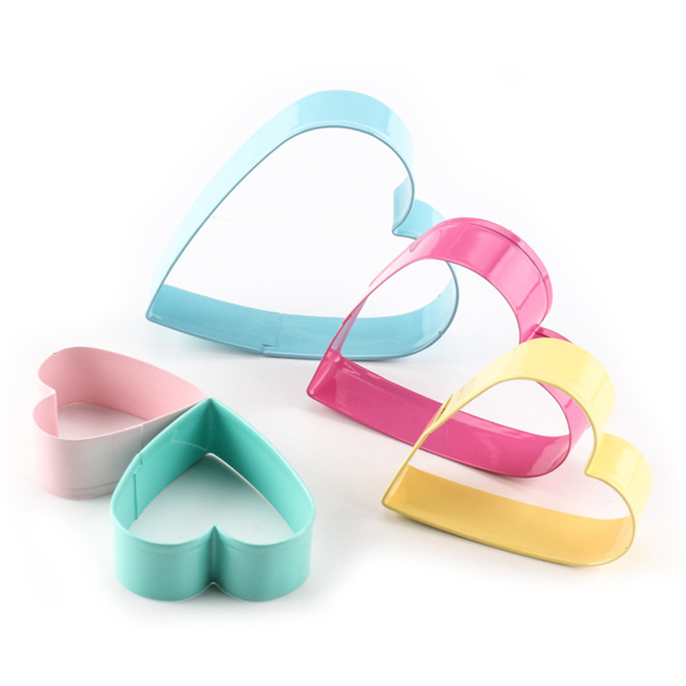 Baking Mould Baking Mould Heart Flower Cutter 5pcs/set Stainless Steel Egg Mould Cookie Cutter Biscuit DIY Mold