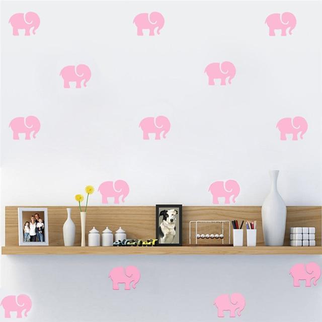 9pc/set cute elephant wall sticker self adhesive wallpaper cartoon
