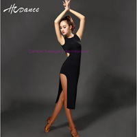 NEW Ice Silk Latin Dance Costumes Senior Sleeveless Latin Dance Dress Women Latin Dance Dresses S