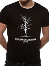 OFFICIAL BLADE RUNNER 2049 - TREE/ OFFICER K SILHOUETTE BLACK T-SHIRT (NEW) Funny Tops Tee New Unisex free shipping