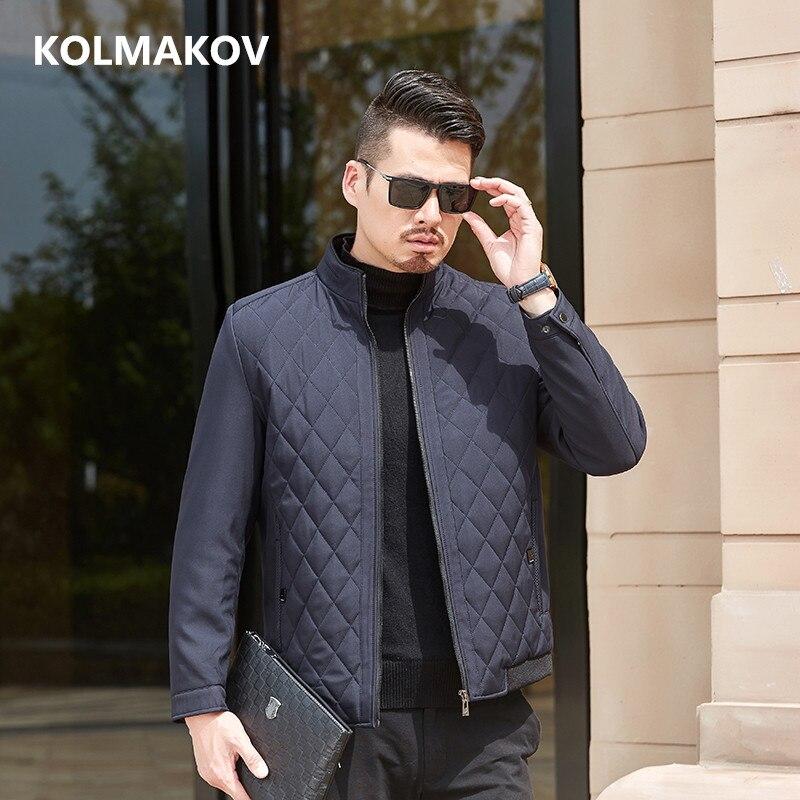 2019 automne Bomber vestes décontracté épaissir manteaux Slim Fit 100% coton hommes manteau Slim Fit mâle pardessus homme grande taille L-3XL