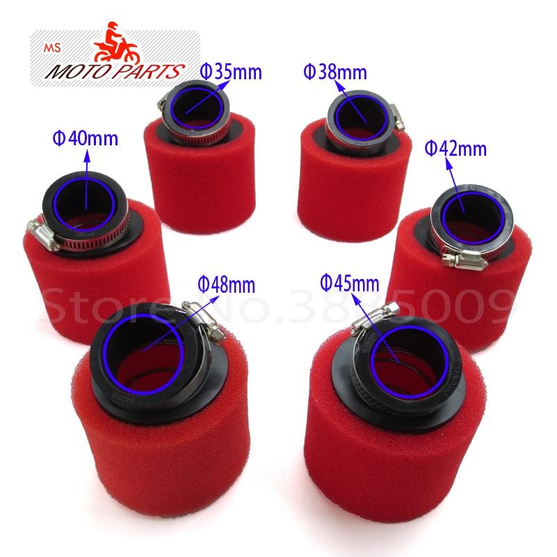 Губка для воздушного фильтра, пеноматериал 35 мм, 38 мм, 42 мм, 45 мм, 48 мм, для мопедов, скутеров, грязи, питбайков, мотоциклов, red Kayo ESB