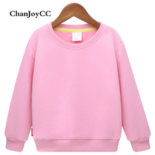 2017Autumn Winter Hot Sale children's Plus cashmere warm Hoodie sweater coat Boy and girl's cotton solid Sports leisure T-shirt
