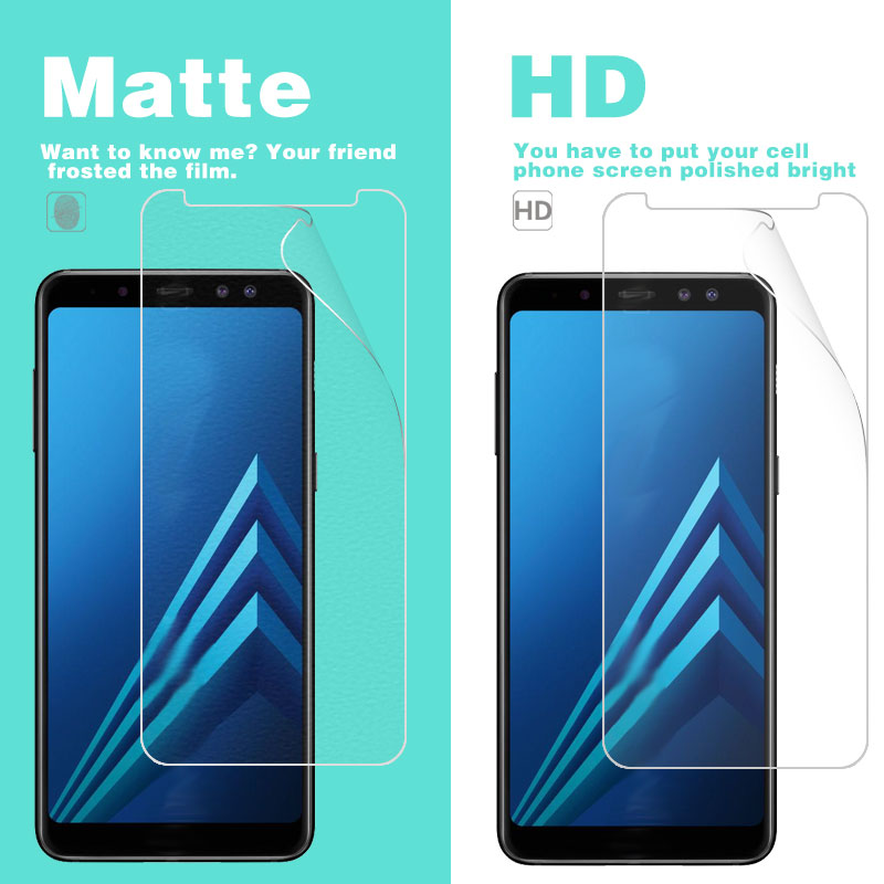 Clear Glossy Film For Samsung Galaxy A8 Plus A730F 6 in Matte Film of Anti-Glare Screen Protector Plastic Film LCD panel guard