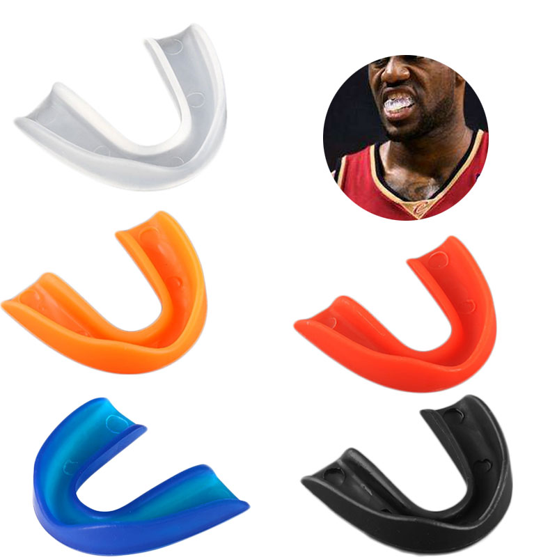 Adult Mouth Guard Teeth Protector For Boxing Sport Basketball Hockey Karate Muay Thai + Plastic Box Silicone Mouth Guard Gum