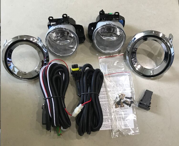 цены eOsuns halogen fog lamp for TOYOTA prado 2014, OEM design with harness, wiring kit, chrome fog lamp cover and switch