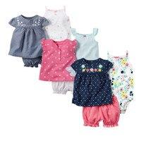 Moda 2018 Orangemom Estate manica corta insiemi del bambino per i vestiti della neonata, 3 pz ragazze del cotone insieme dei vestiti Del Bambino vestiti del bambino