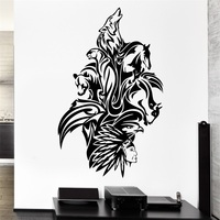 Wall Decal Animals Art Mix Bear Wolf Horse Bird Panther Vinyl Stickers