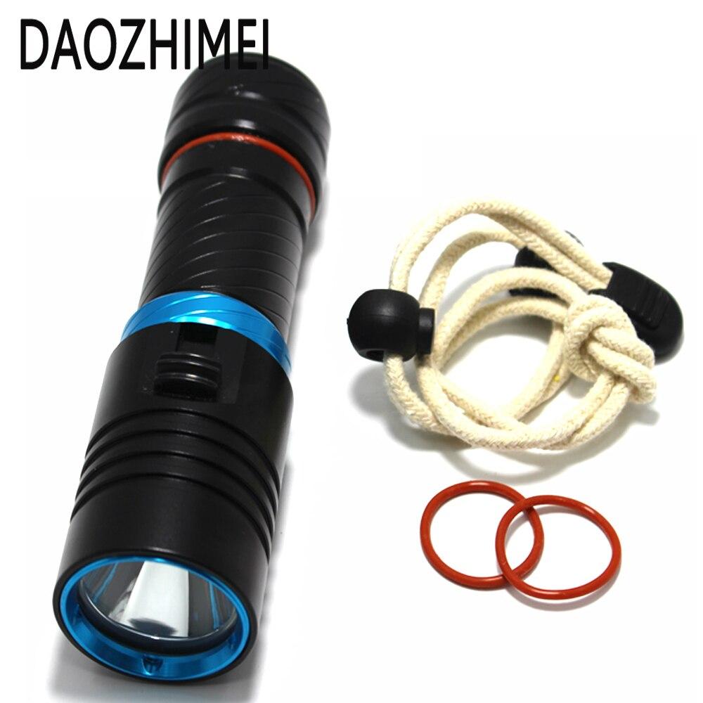 5000LM XM L2 LED Scuba Diving Flashlight Ajustable Light Torch Underwater 100m Waterproof Diving Lamb Light