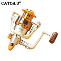 Carrete de Metal Hilado Carrete de Los Pescados de Pesca de Agua Salada Carrete Carretilha pesca Rueda 10 Rodamiento 5.5: 1