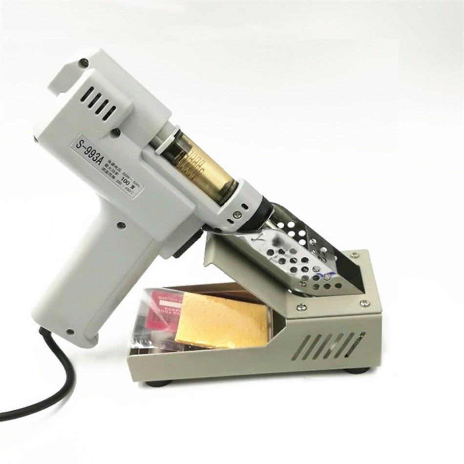 цена на Desoldering Gun Electric absorb gun S-993A Electric Vacuum Desoldering Pump Solder Sucker Gun 100W