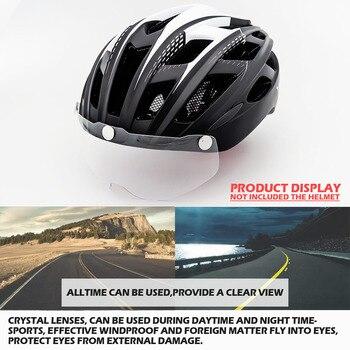 Bicycle Helmet, For Night Cycling, Lens Magnetic, Helmets Shield  MTB 9
