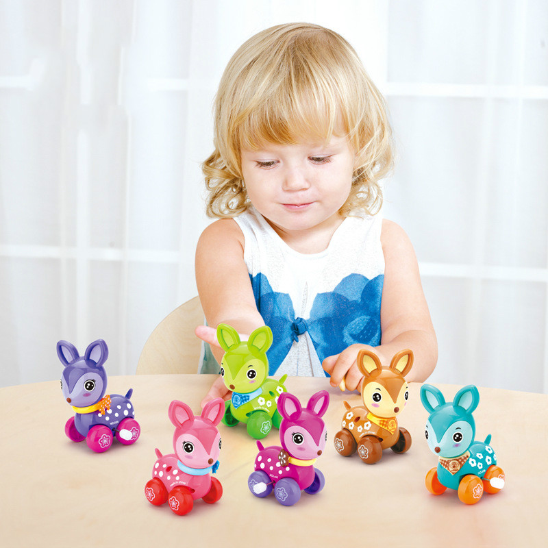 Toys & Hobbies Charitable 1pcs Colorful Clockwork Wind Up Toy Children Kid Deer Styles Running Clockwork Spring Cute Toy For Newborn Baby Train Crawling Catalogues Will Be Sent Upon Request