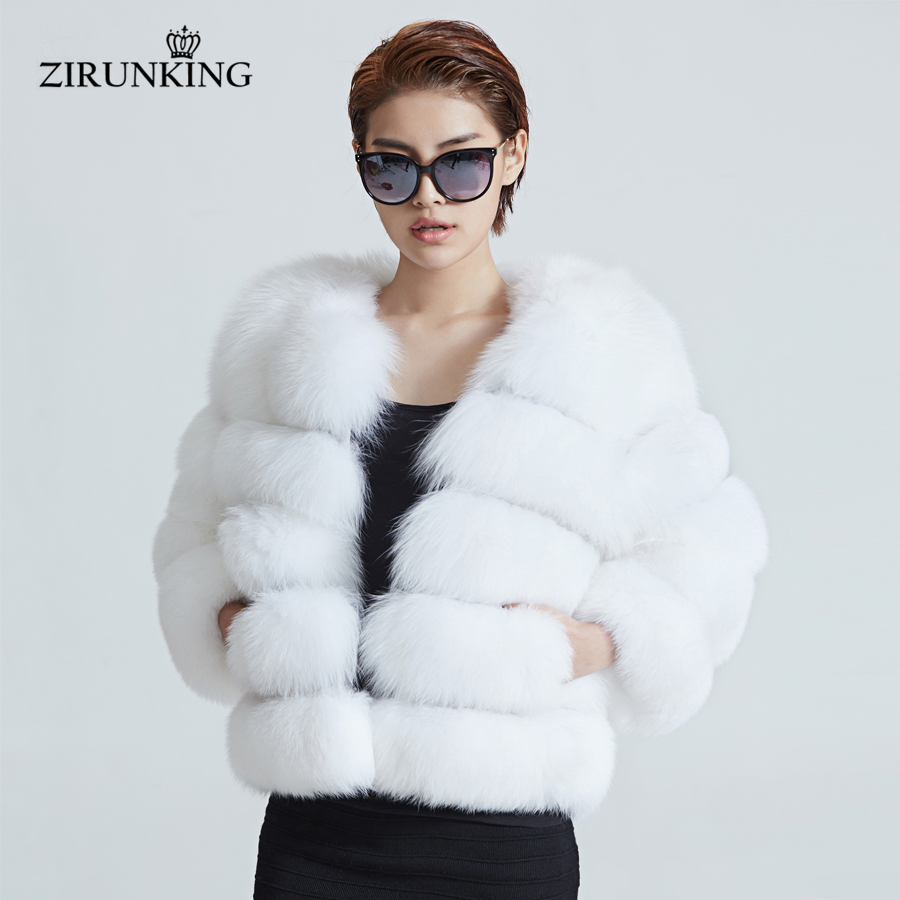 Fur Womens Us 290 52 46 Off Zirunking Short Fashion Real Fur Jacket Women Warm Natural White Fox Fur Coat Winter Outerwear Clothes Zc1637 In Real Fur From