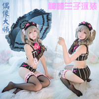 THE IDOLM@STER Cinderell Anime Cosplay Kanzaki Ranko Halloween Party Woman Japanese Lolita Sexy Swimwear Cosplay Costume