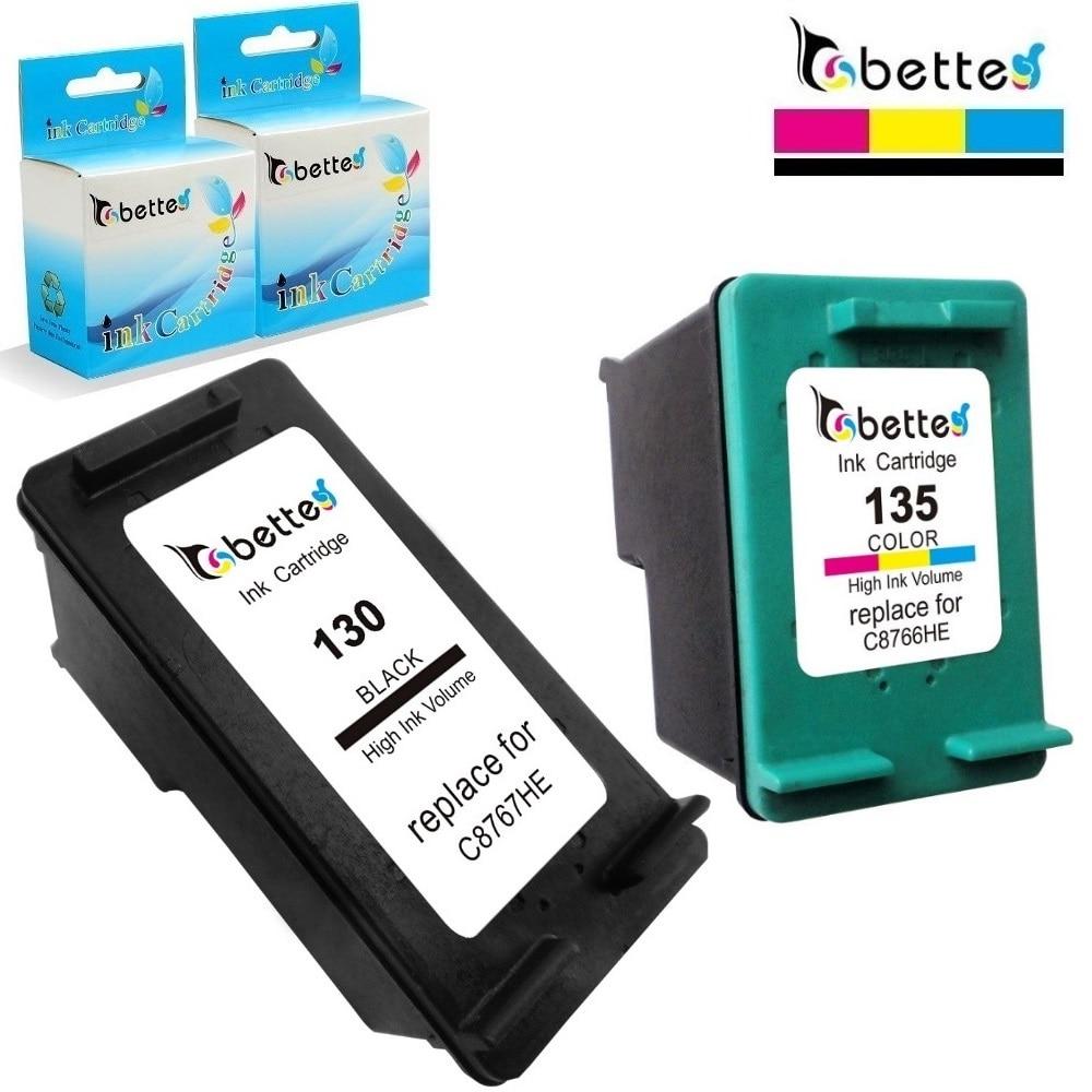 Bette Ink Cartridge Replacement for HP 130 135 hp130 hp135 Officejet K7100 K7103 K7108 Deskjet 6940 6940dt 6943 6980 6980xi 6983